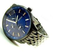 relogio masculino Fashion Sinobi Black Quartz Watches Men Luxury Brand Men Full Steel Watch