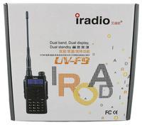 iradio  uvf9 vhf uhf dual band portable ham 2 way radio station with car charger and free earpiece, midland uv5r a 10pcs/lot