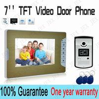 "Home 7"" TFT Video Door Phone Doorbell Home Security Entry  System Video monitor Speakerphone intercom"