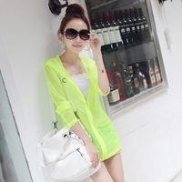 happy SZ   Sun Clothing Beach Female Jacket Protection clothing sunscreen air condition shirt ks0059