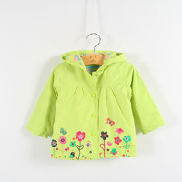 2014 Topolino girl coats and jackets trench coat for girl hood kids trench coat pattern spring children outerwear