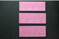 2014 Hot New 3pcs Lace Silicone Mold Sugar Craft Cake Fondant Cake Decorating Bakeware