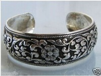 New Tibetan Tibet Silver Totem Bangle Cuff Bracelet FREE SHIPPING