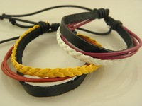 New Real Leather Wrap/Braided Bracelets Mix Order Factory Price Handmade Factory price