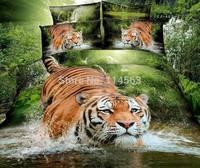New Beautiful 4PC 100% Cotton Comforter Duvet Doona Cover Sets FULL / QUEEN / KING SIZE bedding set 4pcs green tiger panda
