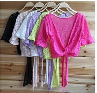 6544   Women Lace Sweater Sun Protection Clothing Shirt Small Shawl Knit Top Thin Blouse Sweater Cardigan ks0050 6544