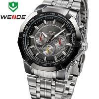 Top Sale! WEIDE Watches Men Military Quartz Sports Diver Watch Full Steel Luxury Brand Fashion Army Wristwatch Free Shipping