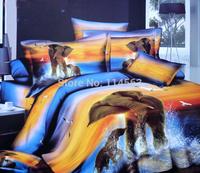 New Beautiful 4PC 100% Cotton Comforter Duvet Doona Cover Sets FULL / QUEEN / KING SIZE bedding set 4pcs blue elephant