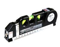 5pcs/lot Multipurpose Laser Level Horizon Vertical Measure Tape Aligner 8FT HT8966 Free Drop shipping
