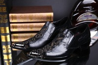 Iron Pointed Toe NEW 2014 KUTA  High Quality  men shoes men's parting shoes Personality  male Shoes plush size 45 46
