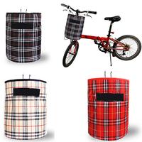 New 2014 Cycling Bike Accessories Front Folded Handlebar Canvas Rainproof Storage Tote Bag Bicycle Basket Beige/Black/Red BG024