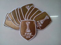 """wholesale free shipping Gold  2014 club world cup Champions """"TM"""" soccer patch soccer Badges 00"""