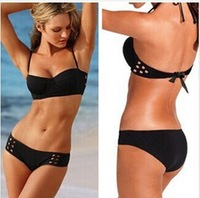 free shipping sexy women hollow out  underwire and padded  bikini swim suit and swim wear