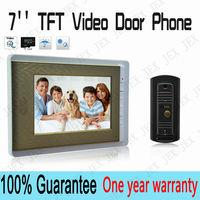 Home 7inch Color Video door phone High quality door phone Metal panel IR camera outdoorphone free shipping