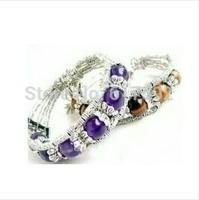 Beautiful Tibetan Multicolor Beads Tibet Silver Bracelet