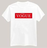 C'est En VOGUE Printed Tshirt For Women Men Short Sleeve Unisex Cotton Casual White Shirt Top Tee XXXL Big Size ZY053-04