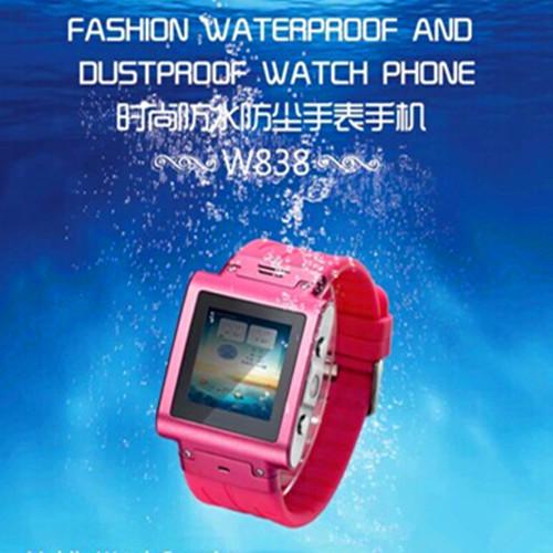 Fashion Quad Band Watch - mobile phone - Super Metal Aluminum - Style - High waterproof phone(China (Mainland))