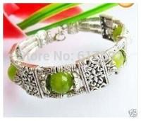 Tibet Ethnic olivine peridot Jade Beads Bracelet