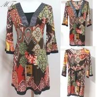 Summer-Autumn Big Size 2014 Embroidery Tops Half Sleeve Plus Size Clothing Brand Beading Women Blouse blusas femininas