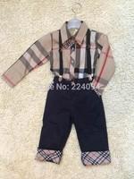free shipping 2014fashion  boys set clothing  sets boys's sets shirt +pants kid's set100% cotton good quality