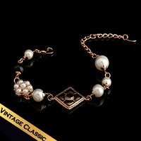 Special Bracelets New Arrivals Heavy Alloy  Enamel  Man Made Pearl  Man Made Black Agate Free Shipping Exotic Style SL14A080513