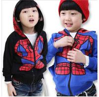 2014 autumn new Korean version cartoon Spider-Man's children's coat fashion hooded Sweatshirts baby boy