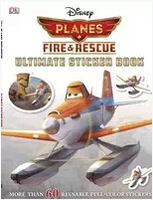 DK  28*21.5m Kids Funny Cartoon Stickers Book Planes Fire and Rescue Educational toys for Children Toy & Gift