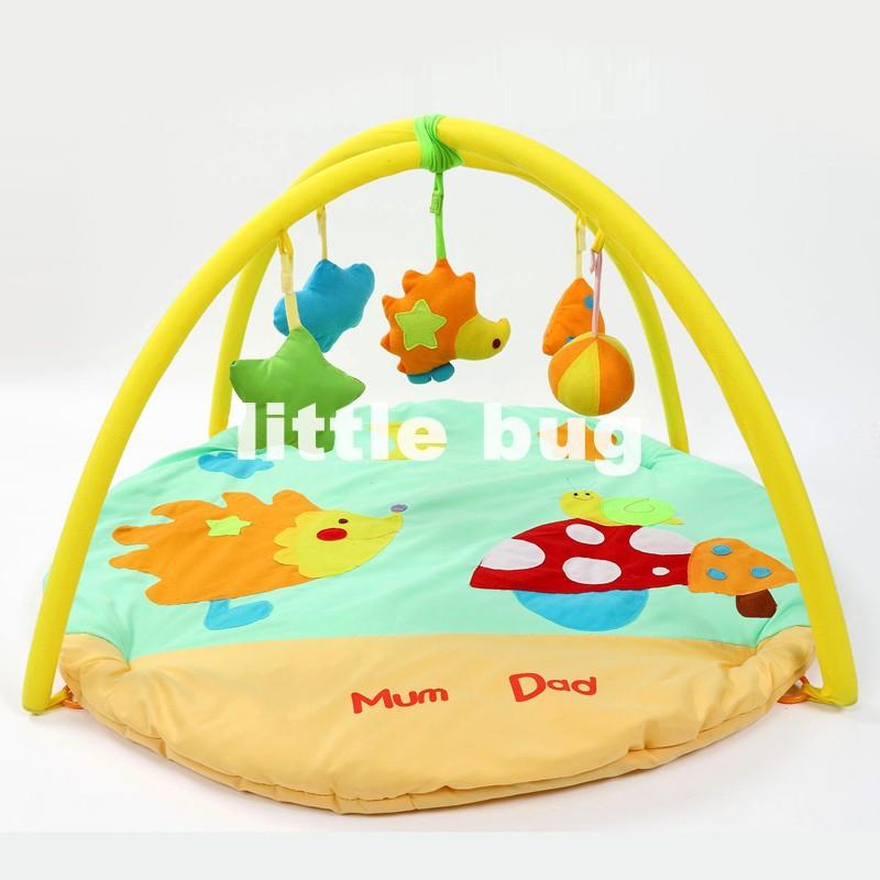 Free shipping Latest Hedgedog Crawling Carpet/Baby Playmats Educational Musical Toys for Baby Rattles(China (Mainland))