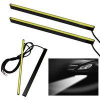 2x 16cm 12V Car DRL Fog Strip Daytime Running Bright COB White Lights Waterproof Free shipping & wholesale