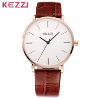 3 Colors KEZZI K-738G Women Dress Watches High Quality Waterproof Leather Strap Watch Ladies Clock Gift BW-SB-918