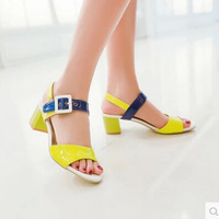 Summer female popular comfortable beautiful european version of the good looking casual all-match slip-resistant low-heeled