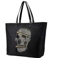 Punk 2014 Winter New Arrival Black Bag Big Female Bags Nylon Women Handbag Skull Shoulder bags unique Items Bolsos High Quality
