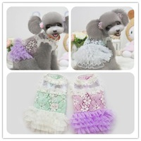 New arrival! Romantic lace wedding dress can send pet dog clothes