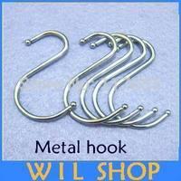 Free shipping 20 Pieces S Hooks Kitchen Pot Pan Hanging Hanger Rack Clothes Storage Holder