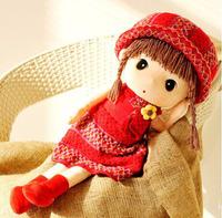 Korean Red sweater Plush Doll Toy Free shipping