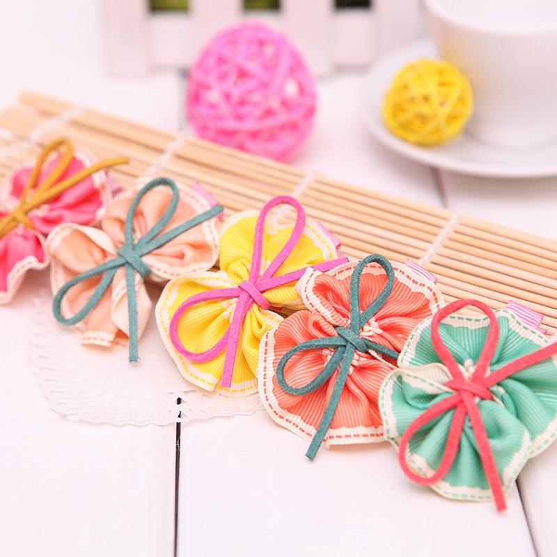 Korean style fashion children's headwear cute bow hair accessories baby girls Hair Clips Kids Ribbon Hairpins 30pcs/lot(China (Mainland))