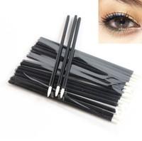 100pcs One-off Eyeliner Brush Disposable Eyeliner Wand Applicator Free Shipping