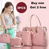 3 Pieces Set Women Handbag Fashion Women Tote Shoulder Bag Casual Women Messenger Bags HB-168
