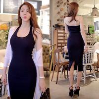 Summer slim female one piece bohemia full dress vest spaghetti strap basic slim hip one-piece dress