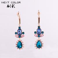 free Shipping 2014 New Earrings Trendy Sterling Water Drop Romantic Earrings Women Jewelry Brincos Grandes