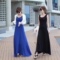 Summer new arrival female slim vest full dress modal long design