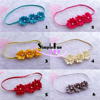 Cute Flower Collection Baby Girls Headband Elastic Headwear Wholesale 40pcs/Lot