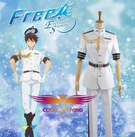 Hot Sale Custom Made Free! Eternal Nanase Haruka Summer Navy Uniform Cosplay Costume