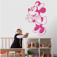 Many colors Mouse girl wall art stickers decal drop shipping
