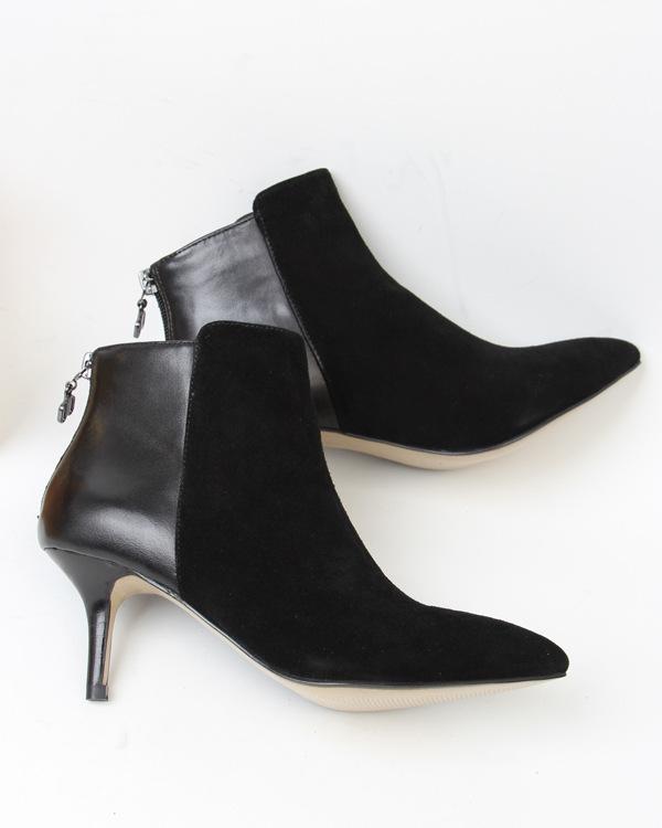 ankle boots de pequeno e médio saltos couro mulher designer de moda botas sapatos(China (Mainland))