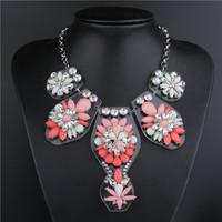 shourouk necklace short design gem vintage Acrylic fashion necklace Statement necklaces & pendants gold double Chain 2014 new