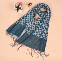 2014 european New Autumn winter Swiss Cross pattern patchwork printed scarf with tassel top quality wraps pashmina w/ 6 colors