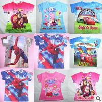 New 2014 Baby Girls Frozen Girl T Shirt Kids Short Sleeve T-shirt Children Frozen T Shirt One Piece Retail