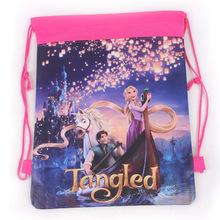 2014 New fashion children kids backpacks for girls Drawstring bag Tangled children school bags mochila Free Shipping