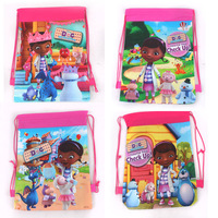 Doc Mcstuffins Non-Woven Children Cartoon Drawstring School Backpack Kids Bag Child Birthday Party Gifts beach backpack